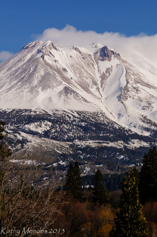 Mount Shasta viewed from Weed