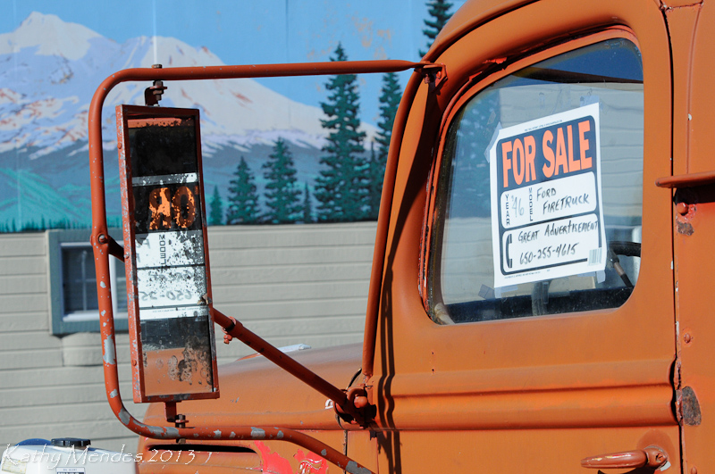 An old firetruck for sale in Weed.
