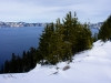 Crater Lake; Snow, Water and Trees
