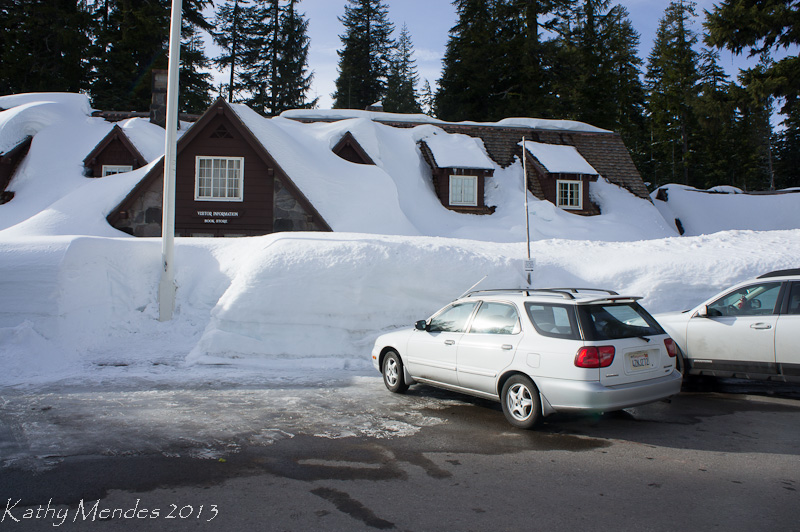 At the Crater Lake Visitor Center there was lots of snow!