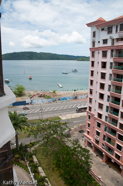View from our room at the Promenade Hotel.