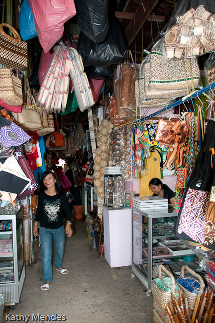 The Philippino market was packed full of stuff.