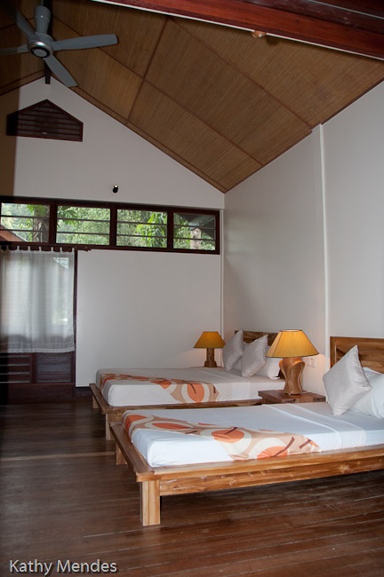 Our first room at Borneo Rainforest Lodge.