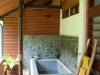 The private tub on the verandah of our second room at Borneo Rainforest Lodge.
