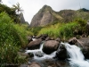 The creeks in the Iao Valley can quickly turn into flash floods from the up to 400 inches of rain that the summit of Halemahina.