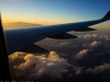 Flying into Maui at Sunset