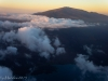 Haleakala from the airplain on the approach to Maui.