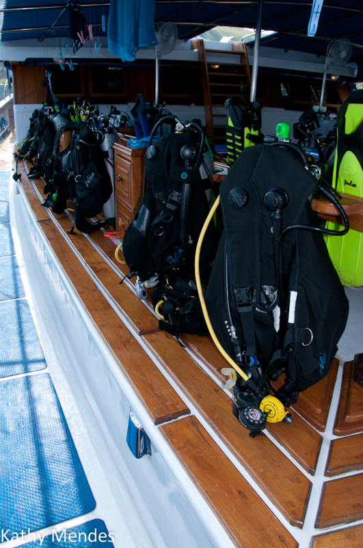 Dive gear is ready when you are.