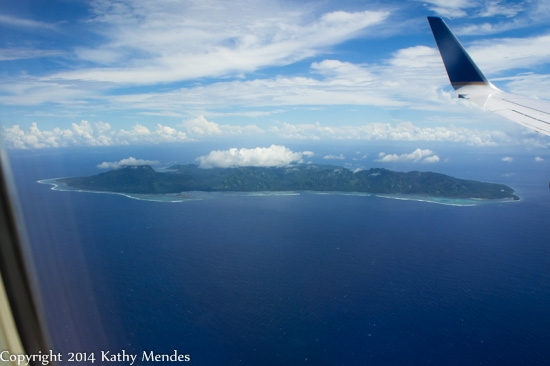 Kosrae from the air.