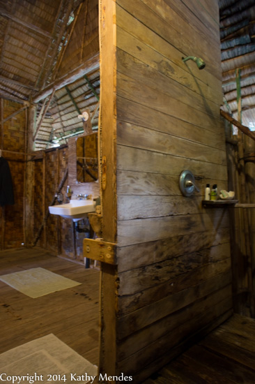 Bathroom and shower in my traditional Kosraen lohm.