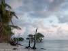 Peaceful sunrise on Kosrae Island.