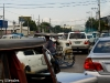 Traffic in Manila heading for the airport.