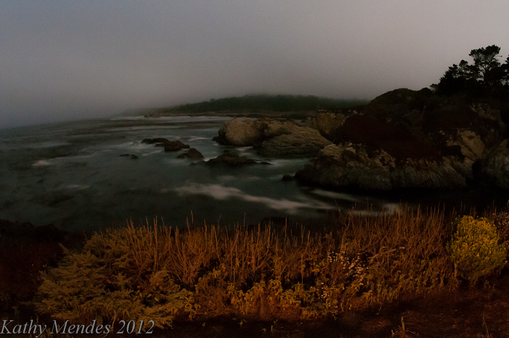 Point Lobos Coastline at Night