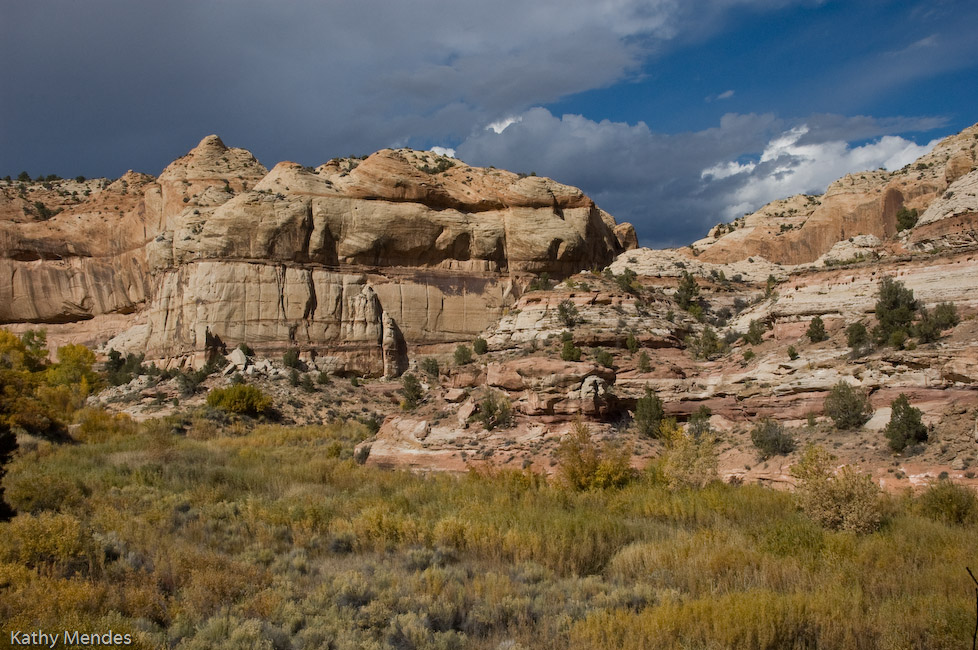 A Thunderstorm Brewing Above Utah Cliffs
