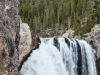 View of Lower Falls from the bottom of Uncle Tom\'s Trail.