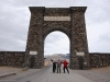 Here we are at the North Gate of Yellowstone, Gardiner, Montana.