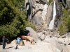 Families enjoy Lower Yosemite Falls