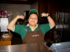 Our friendly Super Barista at the Camp Curry Coffee Corner!