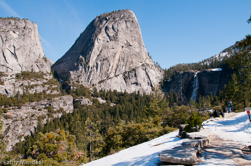 View of Nevada Falls from Clark Point.