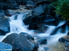 Slow shutter speed blurs Bridalveil Creek.