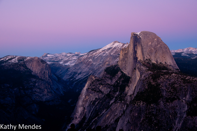Half Dome just after sunset