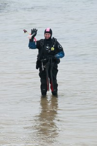 Here I am going diving in full cold water gear.