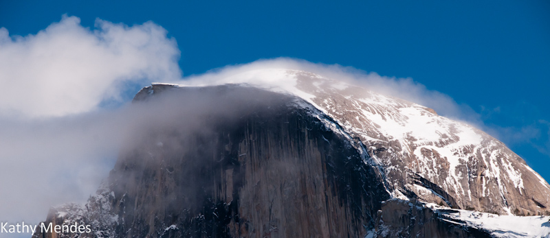 Clouds and Mist Blowing off of Half Dome