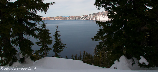 Crater Lake through the Trees