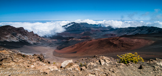 Clouds Pour into the Caldera at Haleakala