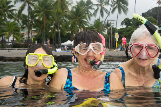 The Three Glamorous Snorkelers!