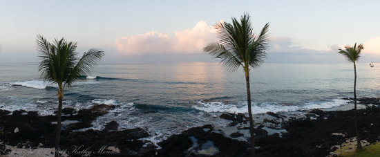 The view from our 4th floor condo in Kailua Kona.
