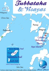 Map showing location of our SCUBA diving adventure. Image thanks to the Siren Fleet.